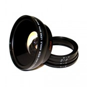 Digital Concepts 0.45X Professional 62mm Wide Angle HD Lens with Macro and 52mm, 55mm, 58mm, 67mm, 72mm Adapter Rings