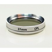 37mm Circular Polarizer CPL Glass Filter in Silver color