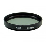 43mm 2X Neutral Density ND2 ND 2 Glass Filter in Black color