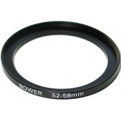 Bower Step-Up Adapter Ring 52mm Lens to 58mm Filter Size 52-58 mm