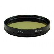 52mm Circular Polarizer CPL Glass Filter in Black color