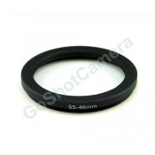 Step-Down Adapter Ring 55mm Lens to 46mm Filter Size 55-46 mm anodized Black