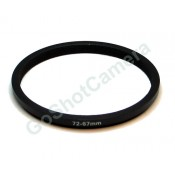 Step down adapter ring 72mm-67mm Metal, Anodized, Black