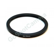 Step down adapter ring 82mm-72mm Metal, Anodized, Black