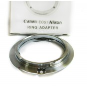 Canon EOS Camera Body to NIKON F Lens Adapter Brass