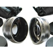 Digital 2x Telephoto and 0.45x Wide Angle 25mm Conversion Lens Set for Cameras and Video Camcorders