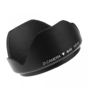 "Mennon Thumb Lock Mount ""DC-b 49"" 49mm Lens Hood, Black"