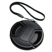 Mennon Pro Center Pinch 49mm Snap-On Lens Cap with Leash