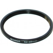 Bower Step-Down Adapter Ring 62mm Lens to 58mm Filter Size 62-58 mm